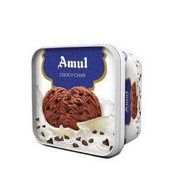 Amul Choco Chips Ice Cream, Packaging Type: Box