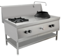 Two Burner Stainless Steel Gas Stove