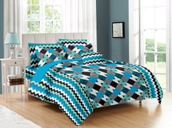 Luxurious Zig Zag Print Bed Sheets