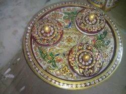 Indoor Multicolor Handcrafted Marble Supardani, Size: 12 Inch