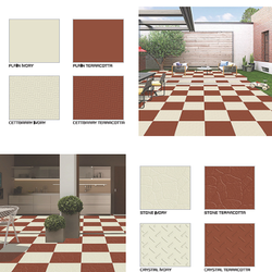 Ceramic Terracotta Floor Tiles, Size: 300x300mm