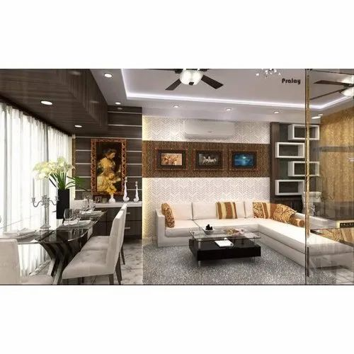 L Shape Living Interior Design Living Room Interior Benchmark Enterprise Mumbai Id 20921860062