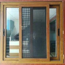 Ero Enterprises Modern Wooden Finish Sliding Windows