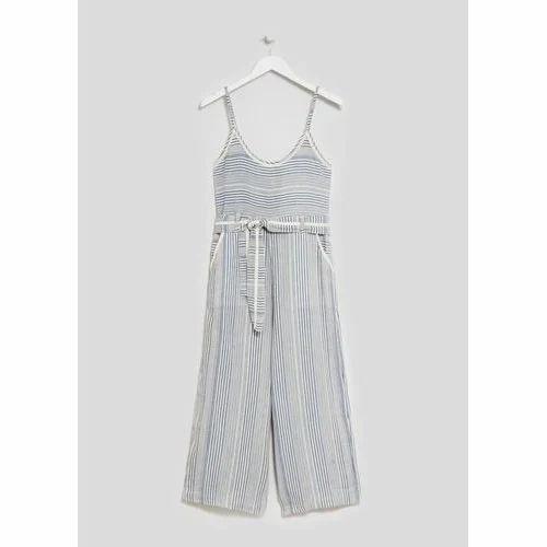 f7434d8ae630 Cotton Stripe Ladies D Jumpsuit