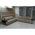 L Shape Fancy Leather And Stainless Steel Sofa Set