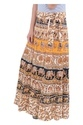 Indian White Round Women Cotton Mandala Rapron Skirts