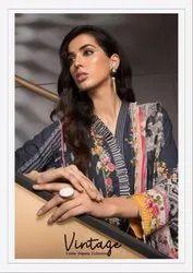 Shraddha Designer Vintage Cotton Dupatta Pakistani Style Dress Material Catalog
