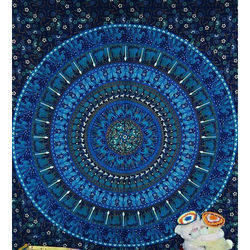 Cotton Printed Mandala Tapestry