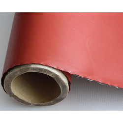 Plain Red Graphite Coated Fiberglass Cloth, Packaging Type: Roll, 70199090