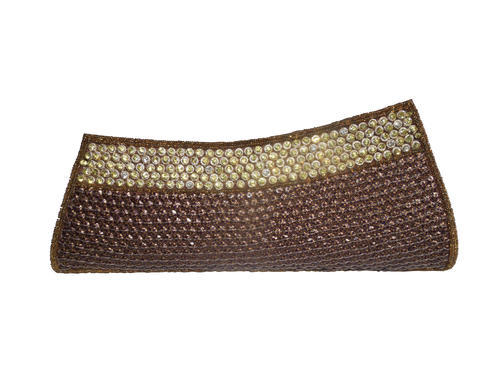 f2f7ff86935 Spice Art Brown women fashion pure silk embroidered clutch party designer  purse