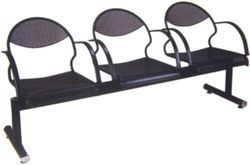 Black Powder Coating 3 Seater