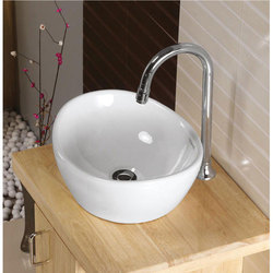 White Wall Mounted Ceramic Table Top Wash Basin, For Bathroom, Fix