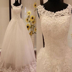 Large Xl Net Designer Wedding Gown Rs 8000 Piece Ashnahs Bridal