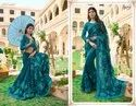 Dark Blue Party Fancy Designer Saree