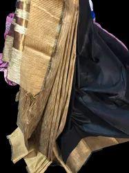 Jute Cotton Saree, 6.3 m with Blouse Piece