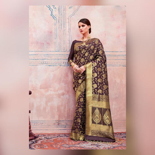 38a1e94201 Silk Multicolor Printed Kanya Saree, Rs 1340 /piece, Agarwal ...