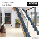 Porcelain Multicolor Stair Tiles, Size: 200x1200 Mm & 300x1200 Mm, Thickness: 8 - 10 Mm
