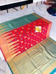 Pramukh Wedding Banarasi Silk Saree, With Blouse Piece, Packaging Type: Polly Bag