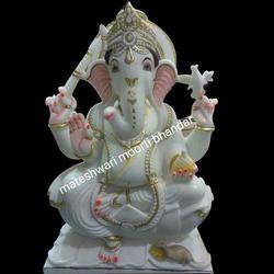 3 Feet Marble Ganesh Statue