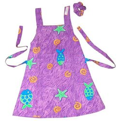 Girls Printed Dress with Scrunchie