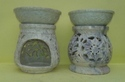 Soapstone Aroma Lamp Set Of Two
