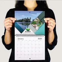 English Paper New Year Wall Calendar, For Office