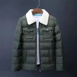 Mens Green Collar Neck Designer Jackets