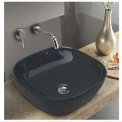 Mozio Italian Ceramic Black Remo Matt Wash Basin, for Home, Model Name/Number: R11100