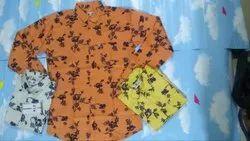Mens Designer Orange Shirt