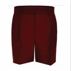 Maroon Poly Cotton School Uniform Half Pant