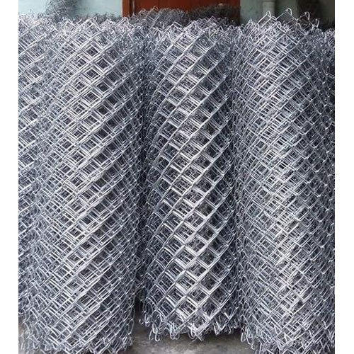 Galvanized Iron Security Chain Link Fencing Rs 53