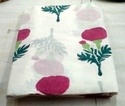 Flower Hand Block Printed Cotton Sanganeri Print Fabric