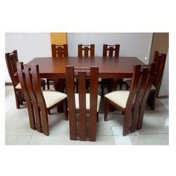 Wooden 1 Table 8 Chair Eight Seater Dining Table Set For Home Restaurant Rs 16000 Unit Id 21716226748