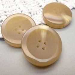 Cream BBS Polyester Button