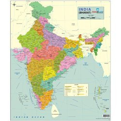 Multicolor India Map - Political (70 X 84 Cm) - Paper Poster, Rs 150 ...