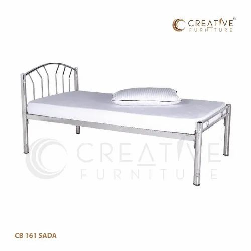 CREATIVE FURNITURE CB 161 SADA STAINLESS STEEL BED, Single, Size: 6x2.5 Ft