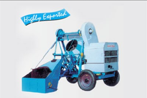 10 7 Cft Concrete Mixer Mechanical Hopper 200 Lts Capacity