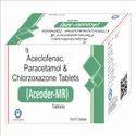 Aceclofenac 100 mg Paracetamol 325 Chlorzoxazone 250 mg