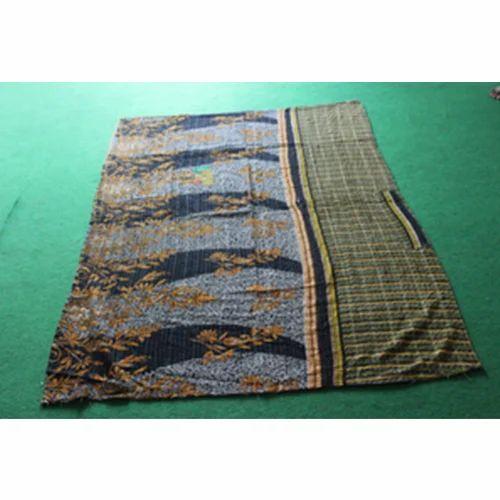 Vintage Kantha  Bed Cover