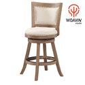 Woavin Studio Wood, Metal, Leather Designer Dining Chair, Size: 40x40x110