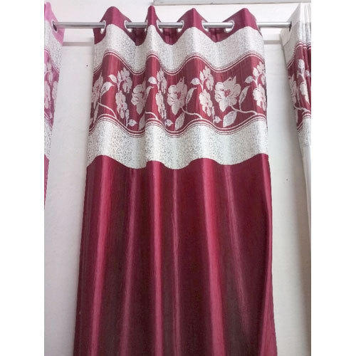 V Decor Maroon Polyester Curtain Size 7 Feet