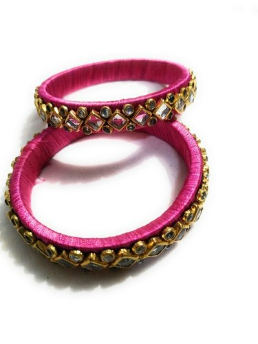 Jain Saab Kundan Meena Bangle