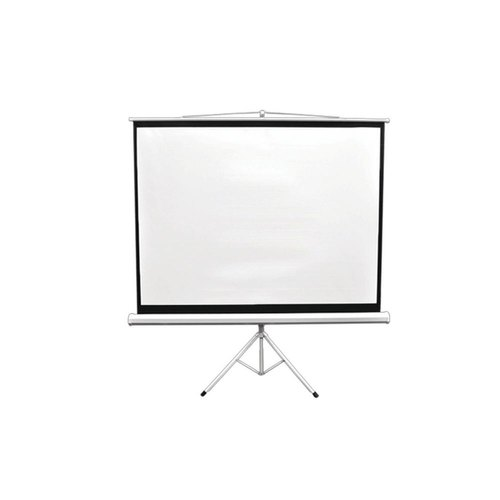 White 4x6 Feet Diagonal Tripod Projector Screen 4 3 Aspect Ratio Rs 3200 Piece Id 21743051273