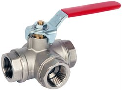 SS 3 Way Screw End Ball Valve