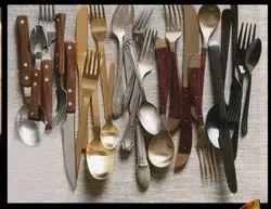 Silver Round Designer Cutlery, For Hotel