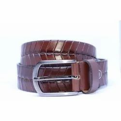Mares Textured Brown Leather Belt