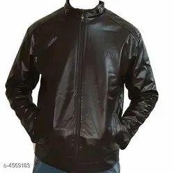 Full Sleeves Plain Leather Jackets