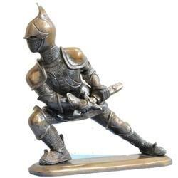 Soldier Figurine Brass Metal Made