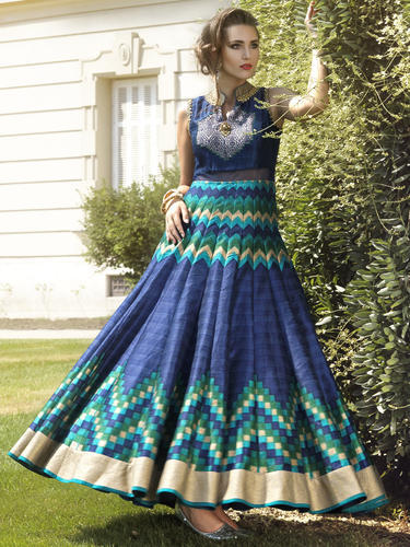 292970fc72b Designer Heavy Partywear Gown at Rs 2890  piece