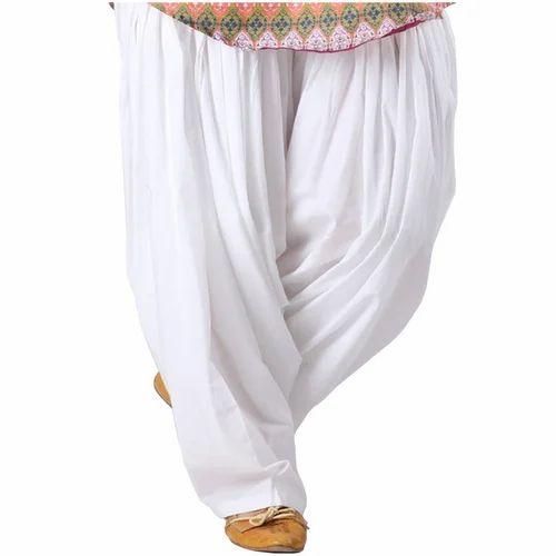 Stitched White Ladies Patiala Pant 295f1fb7d